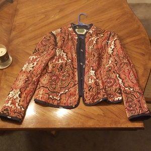 Anthropologie quilted jacket/blazer